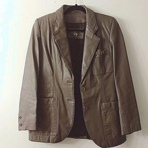 Etienne Aigner Vintage Leather Jacket, Size 10
